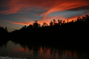 Sunset di Sungai Wania