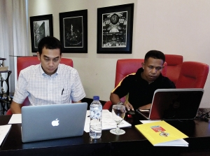 Tim Penyusun SR LPMAK ketika mengikuti workshop evaluasi dan penentuan konten serta boundry SR 2014.